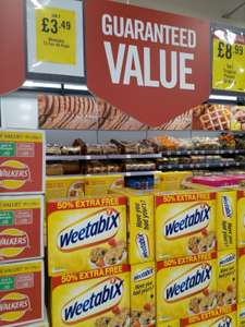 Weetabix 72 pack £3.49 @ Iceland Food Warehouse