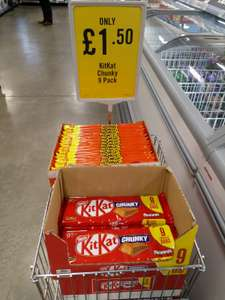 KitKat Chunky / Toffee Crisp 9 packs £1.50 @ Iceland Food Warehouse