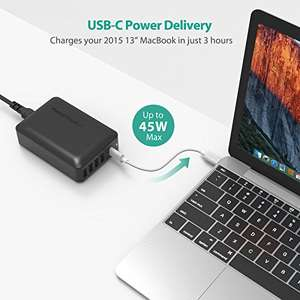 60W 5-Port USB Wall Charger, Desktop Charging Station with 1 Type-C PD Port up to 45W £18.19 @ Amazon SVT
