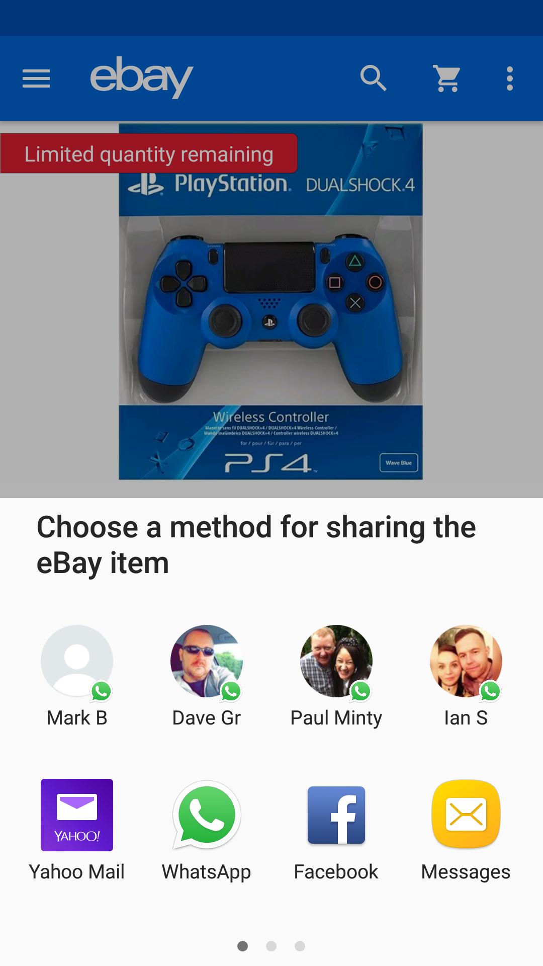 Ps4 dual controller £37.85 @ ebay / Shopto
