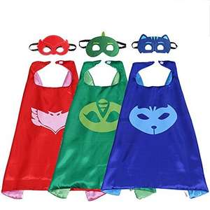 Pj mask superhero mask and cape. Set of 3 £6.75 Prime £10.74 Non Prime Sold by AJZ PTY LTD. and Fulfilled by Amazon