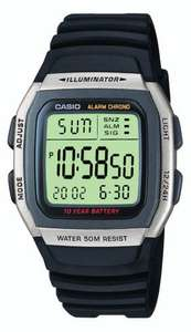 Casio Collection Digital Watch with Resin Strap W-96H-1AVES 50M WR, 10 Year Battery £9.99 (Prime), £13.98 (Non-Prime) @ Amazon (In Argos Too)