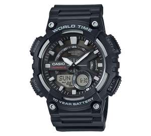 Casio World Time Telememo Black Combi Watch £17.99 @ Argos