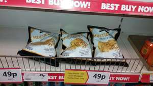 Glutten free MultigrIn Tortilla chips by Food should taste good. Also available in Blue corn tortilla chips. - 49p @ Heron
