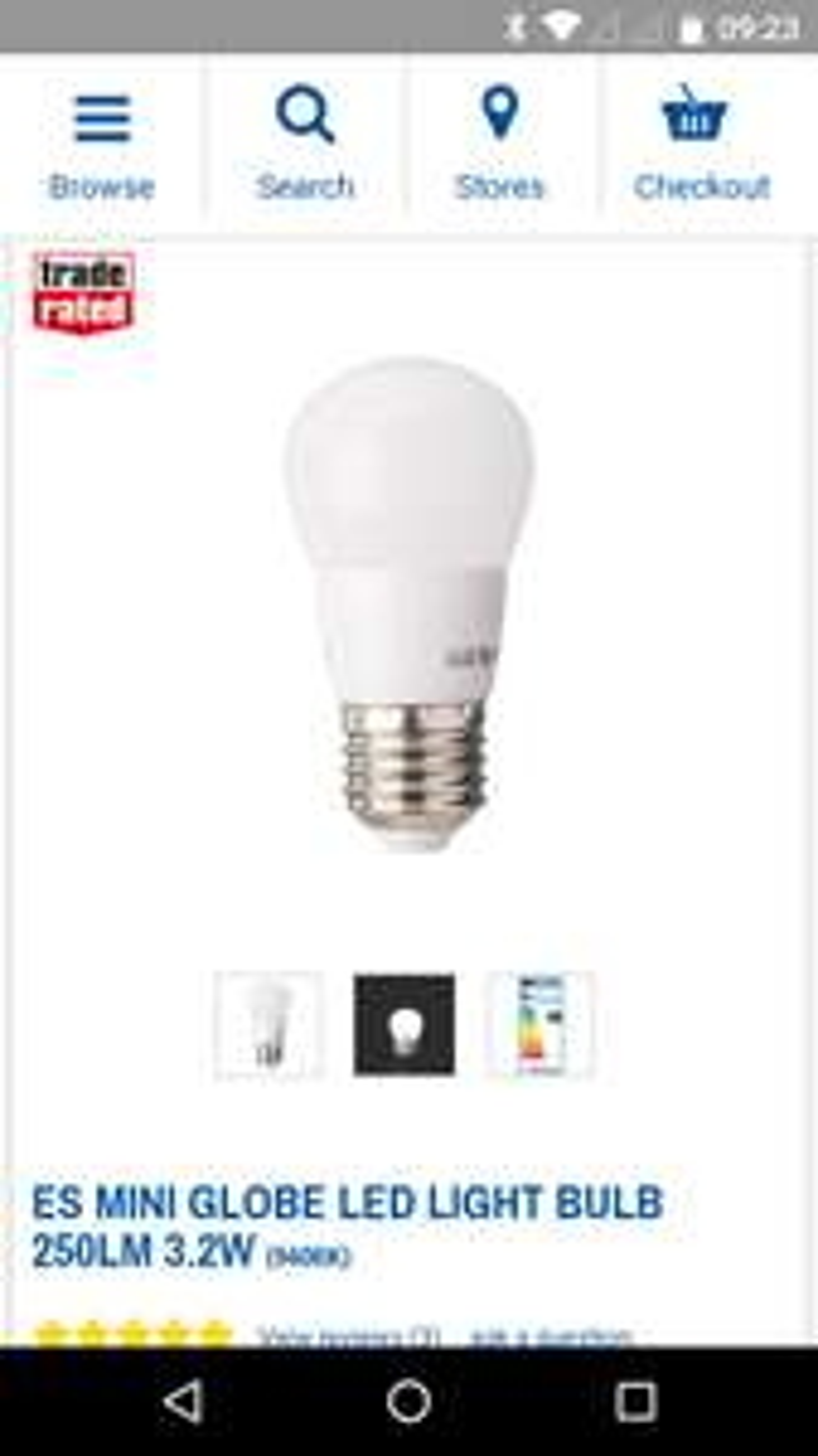 Power to the people, nice but dim, [insert light bulb joke here] Great Value Product  ES MINI GLOBE LED LIGHT BULB 250LM 3.2W - 49p @ Screwfix