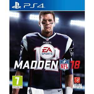 Madden NFL 18 PS4 instore only out of stock for online - £19.99 @ Smyths
