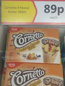 4 x Cornetto peanut butter love 360ml - 89p @ Heron foods