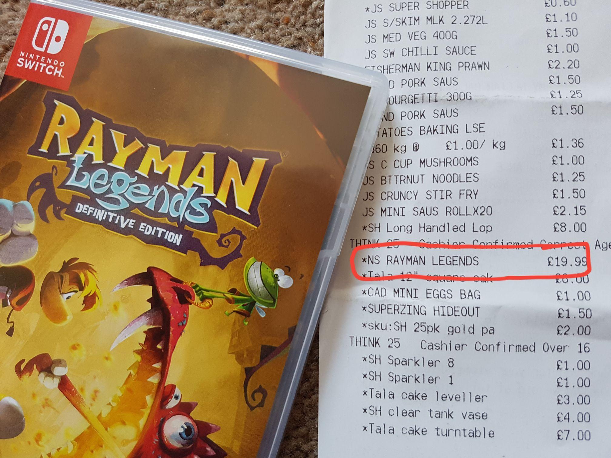 Rayman Legends Definitive Edition £19.99 on Nintendo Switch instore @ Saisnbury's