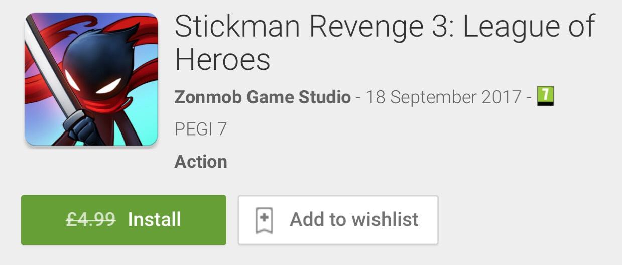 Stickman Revenge 3: League of Heroes (FREE) @GooglePlayStore (was £4.99)