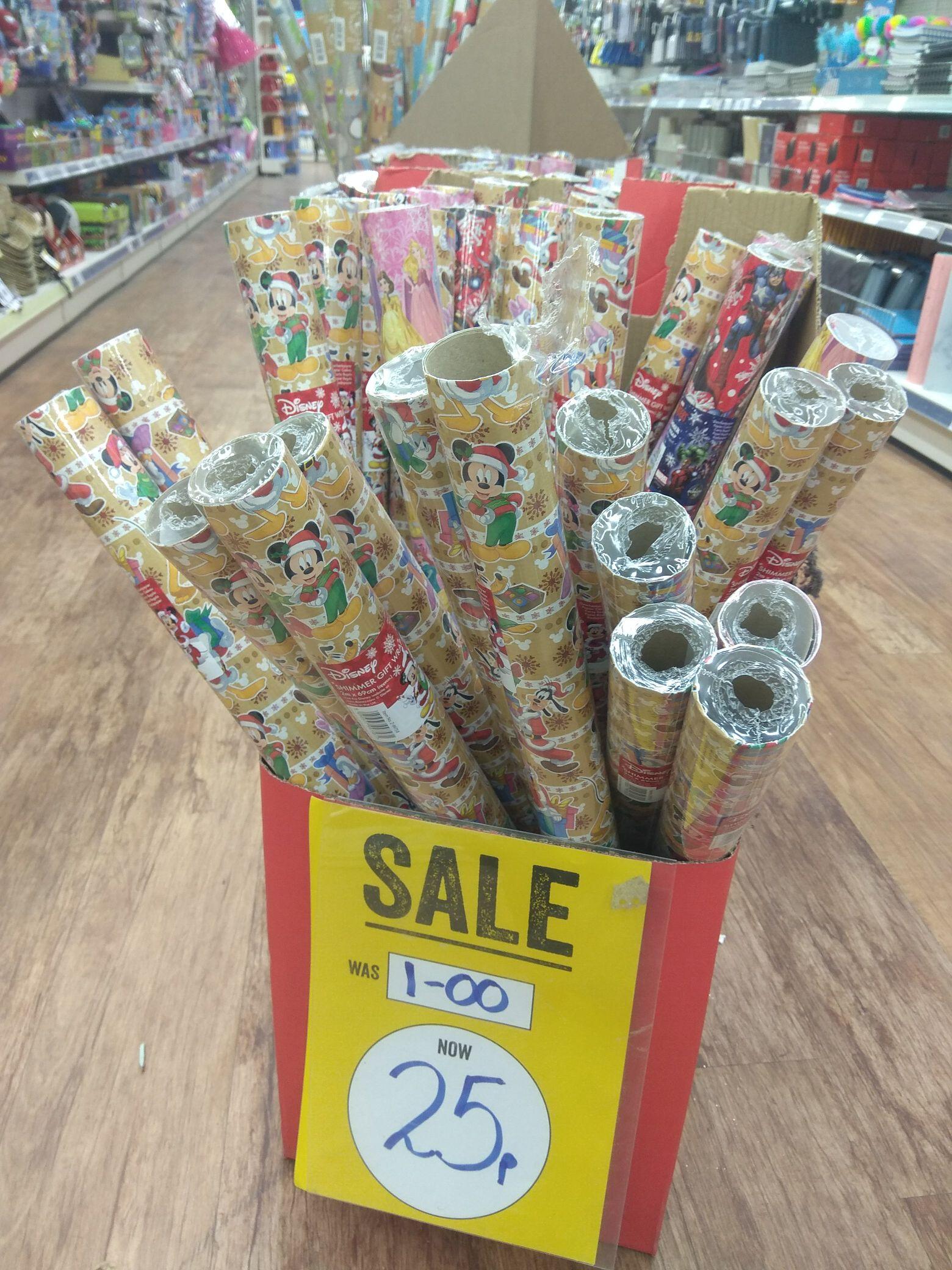 Various Disney Shimmer 2 meter Summer gift wrap 25p @ Poundworld (Leeds)