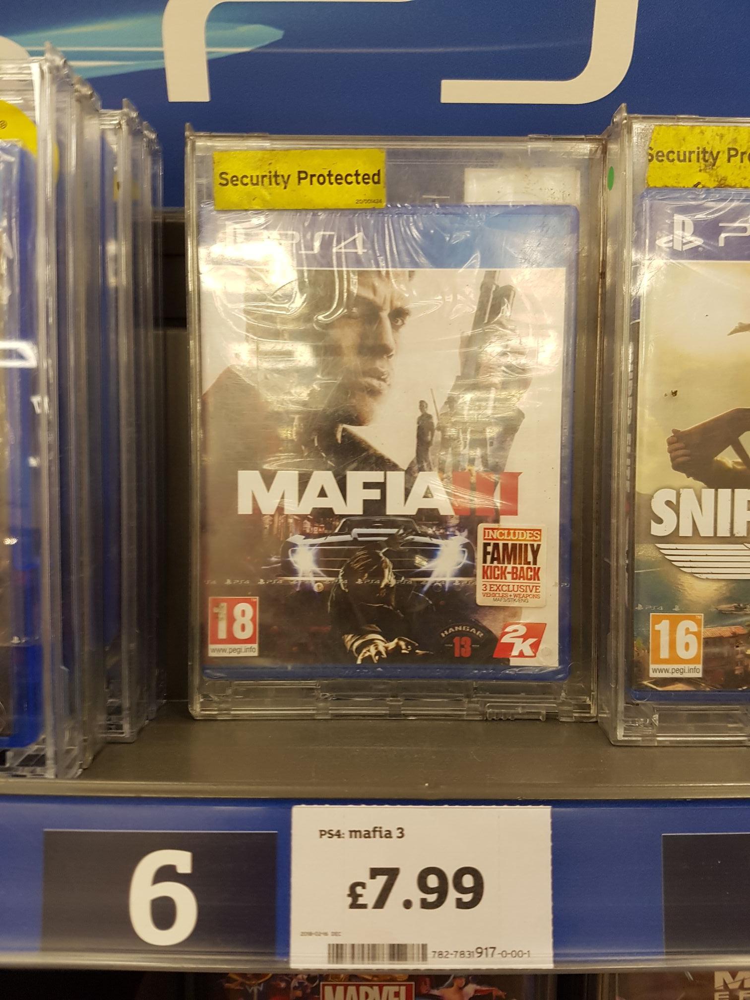 PlayStation 4 Mafia 3 - £7.99 @ Sainsbury's instore