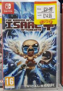 The Binding of Isaac Afterbirth+ (Nintendo Switch) £14.99 @ Smyths (C&C instore)