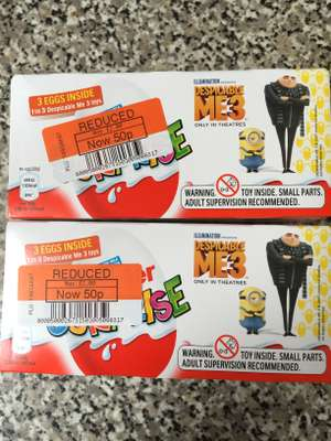 Kinder Egg 3 pack only 50p Co op clearance (Huddersfield)