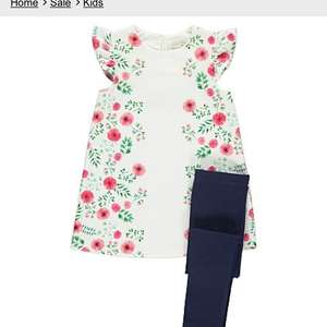 George Asda girls dress and leggings set reduced to £7.50 free click and collect