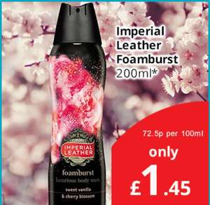 Imperial Leather Foamburst £1.45 in Savers.