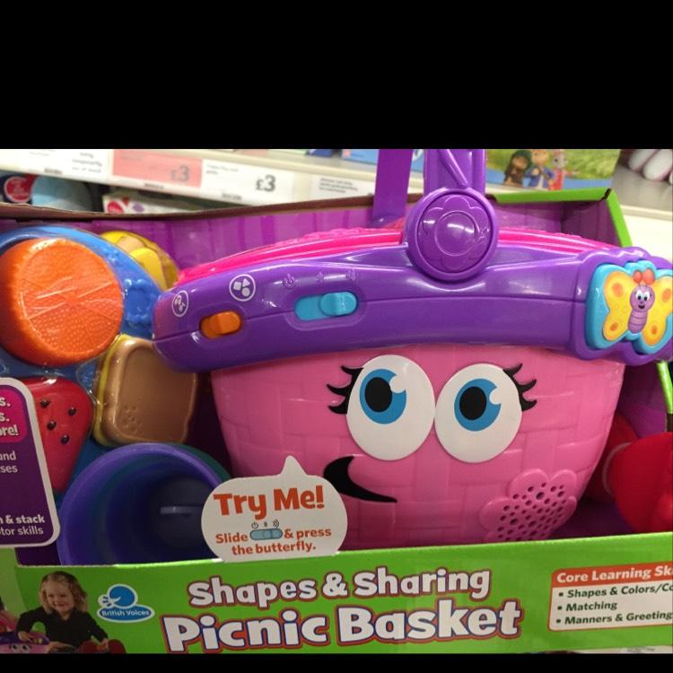 Leapfrog shapes and sharing picnic basket - £10 instore @ Sainsbury's