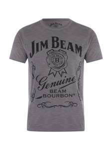 Men's Jim Beam bourbon T-shirt M,L. Now £5 was £12 @ peacocks