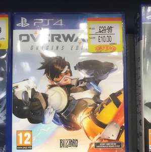Overwatch origins PlayStation 4 PS4 £10 smyths in store