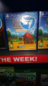 Stardew Valley £7 for PS4 Deal of the week instore @ Smyths