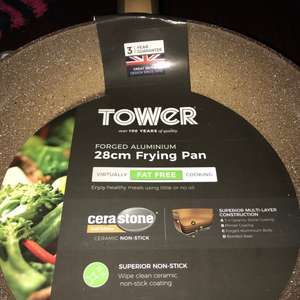 Tower ceramic 28cm frying pan also griddle pans £9.99 instore @ Iceland