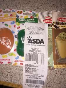 Jelly Belly and Milkshake air fresheners from 20p @Asda Instore