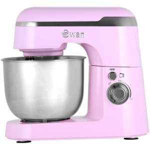 Swan Retro SP25010PN Stand Mixer with 4.2 Litre Bowl including Dough Hook (was £89) now £59 @ AO