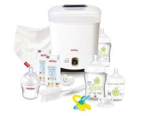 Nuby natural touch complete starter set in white tesco in store for £11.25