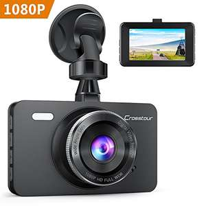 Amazon: Crosstour Dash Cam In Car Camera 1080P Full HD 12MP £25.30 Sold by CrosstourDirect and Fulfilled by Amazon