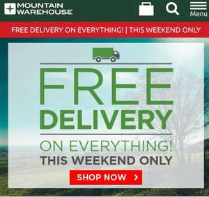 Mountain Warehouse 70% + 15% + Free delivery on weekend