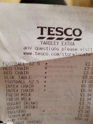 Tesco Yardley Mitre football size £1