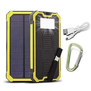 15000mAh Dual USB Solar Power Bank with torch (black, green, yellow) £7.99 Prime £11.98 non Prime sold by JINXJ, fulfilled by Amazon