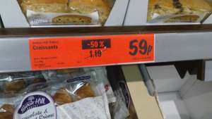 Lidl Croissants with Chocolate and Hazelnut Creme filling half price 5pk 59p @ Lidl