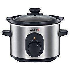 Breville VTP169 Compact Slow Cooker, 1.5 L - Silver £12.40 (Prime) £17.15 (Non Prime) @ Amazon