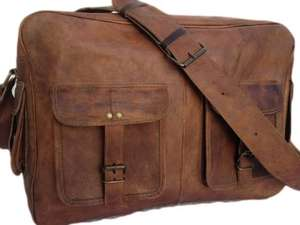 "True Grit Leather- ""Executive"" Leather Laptop Messenger Briefcase Crossover Shoulder Bag (17 Inch) , Free delivery on Prime / £3.99 delivery non prime Sold by THE VINTAGE STUFF and Fulfilled by Amazon"