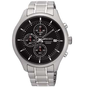 Seiko Men's Chronograph Stainless Steel Watch £55.99 - Argos