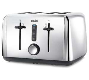 Breville 4 Slice Toaster - Stainless Steel. Was £42.99 now £24.99 @ Argos