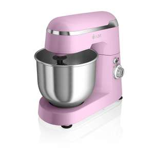 Swan SP25010PN Retro Stand Mixer, with 4.2L S/S Mixing Bowl - 600w, Pink £59 @ Amazon
