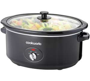 Cookworks Black 6.5L Slow Cooker for £17.99 / 3.5L for £14.49 @ Argos