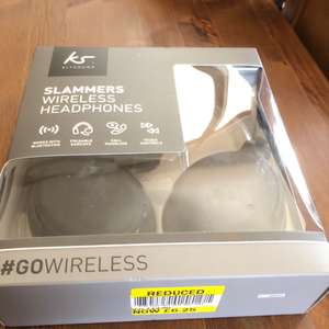 Kitsound Slammers Wireless Headphones Bluetooth £6.25 @ Tesco - Enfield