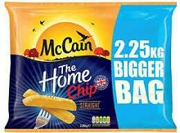 Asda McCain Home Chips Straight Cut 2.25Kg - £1.68