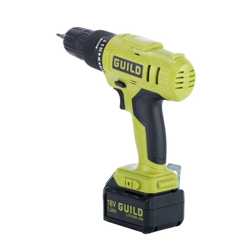 Guild 1.3AH Li-ion Cordless Hammer Drill - 18V £28.49 at argos