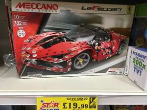 Meccano LaFerrari 16310 782 pieces. £19.99 - Quality Save