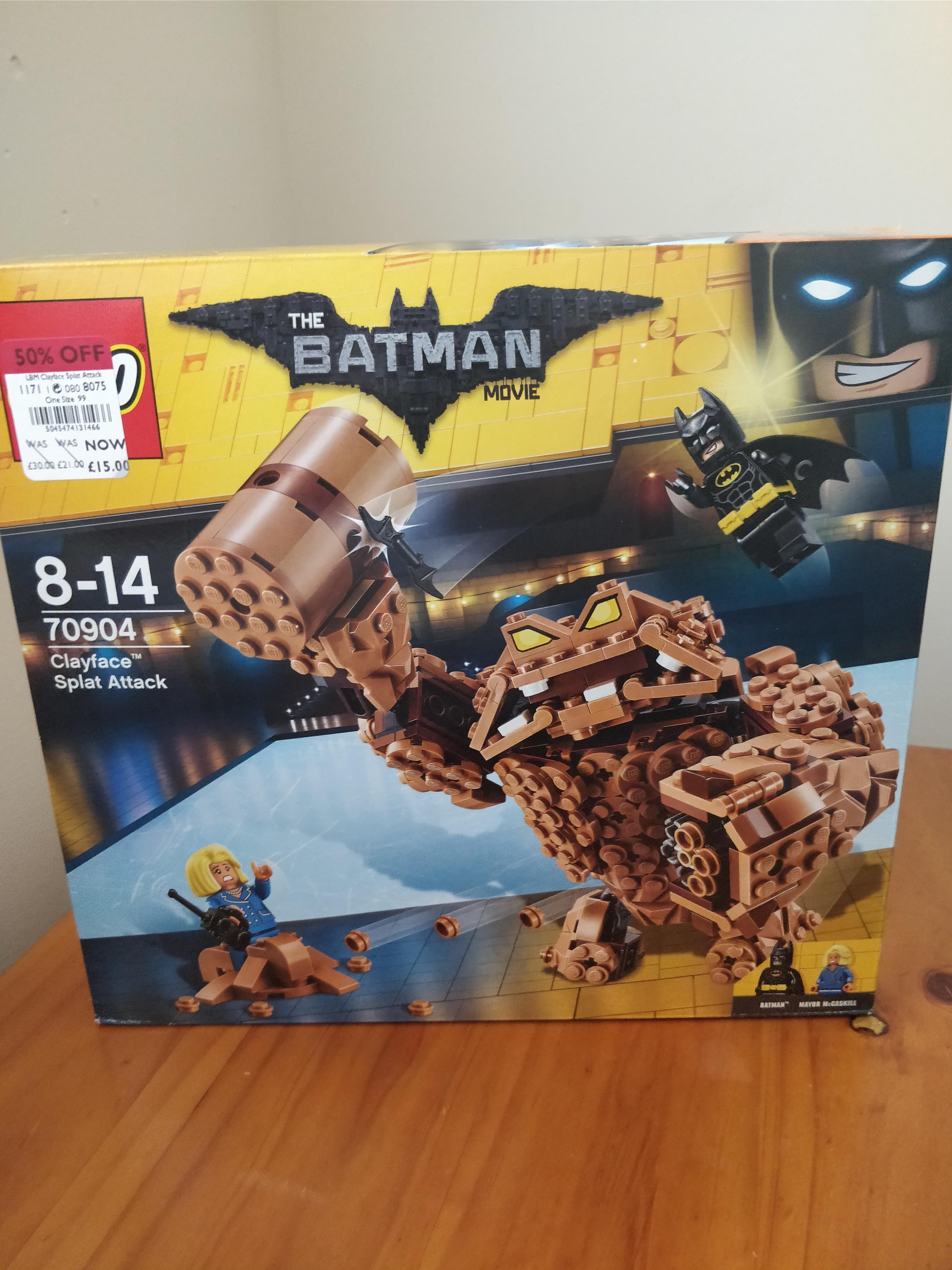 Lego Clayface Splat Attack 50% off £15 at Debenhams - Craigavon