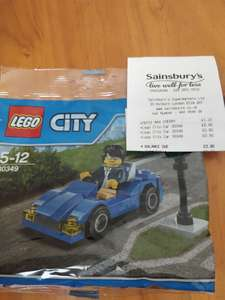 Lego City Car Polybag down from £4 to 90p! Sainsbury's.