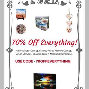 70% off everything with code - Your Perfect Canvas