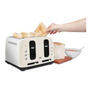 Beko TAM7401C Traditional 4 Slice Toaster with 6 Browning Levels in Cream £19.99 @ Hughes. Free C&C