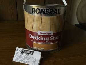 Ronseal Decking Stain 2.5l £8.99 @ Home bargains - Edinburgh