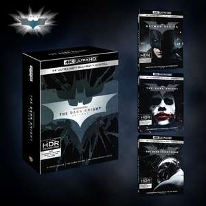 The Dark Knight Trilogy - 4K UHD Blu-ray £39.99 - Zavvi
