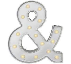HOME Ampersand Light - Silver (&) £1.99 Free click and collect at Argos