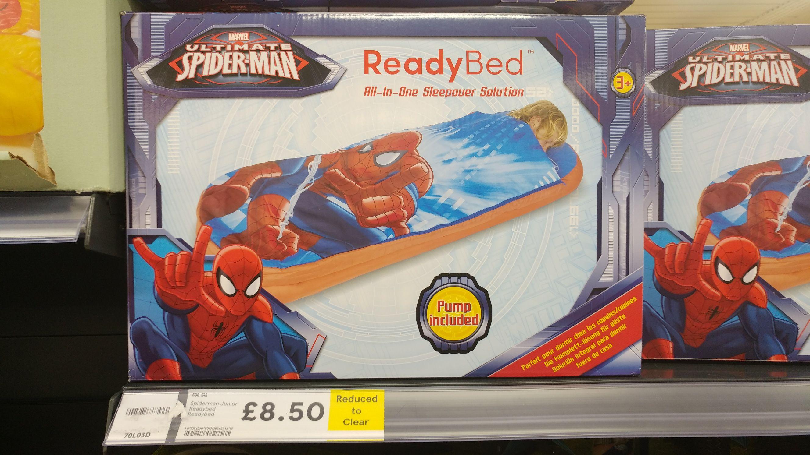 Spider-Man Junior Readybed £8.50 @ Tesco Kingston MK (INSTORE) RRP £35